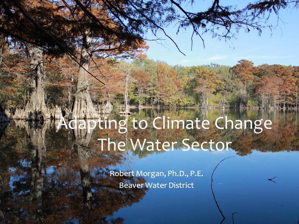 Water Sector Cost for Adapting to Climate Change through 2050 Drinking Water: $325 - $692 Billion Wastewater: $ 123 – $252 Billion Total Water Sector:$ 448 - $944 Billion National Association of Clean Water Agencies, 2009