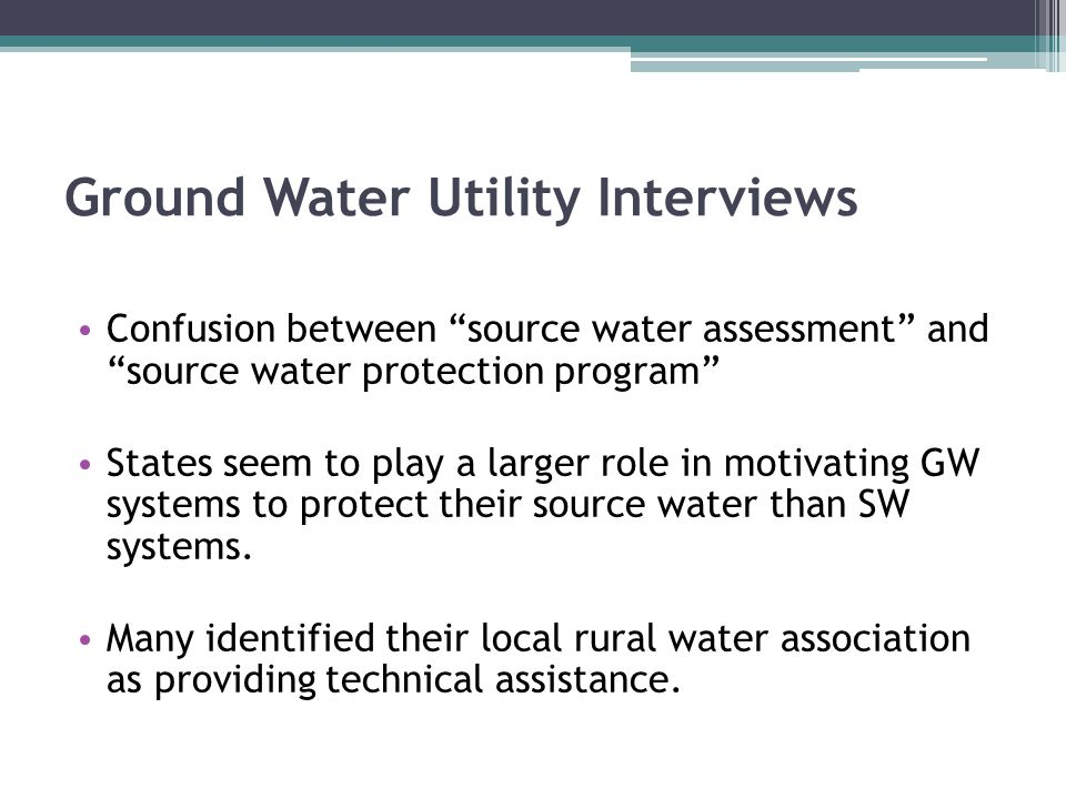 AWWA Standard for Source Water Protection