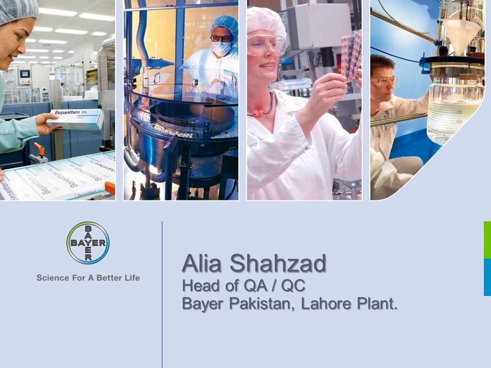 Alia Shahzad, Head of QA / QC Water for Injection Page 2 Complete Name:Mrs.