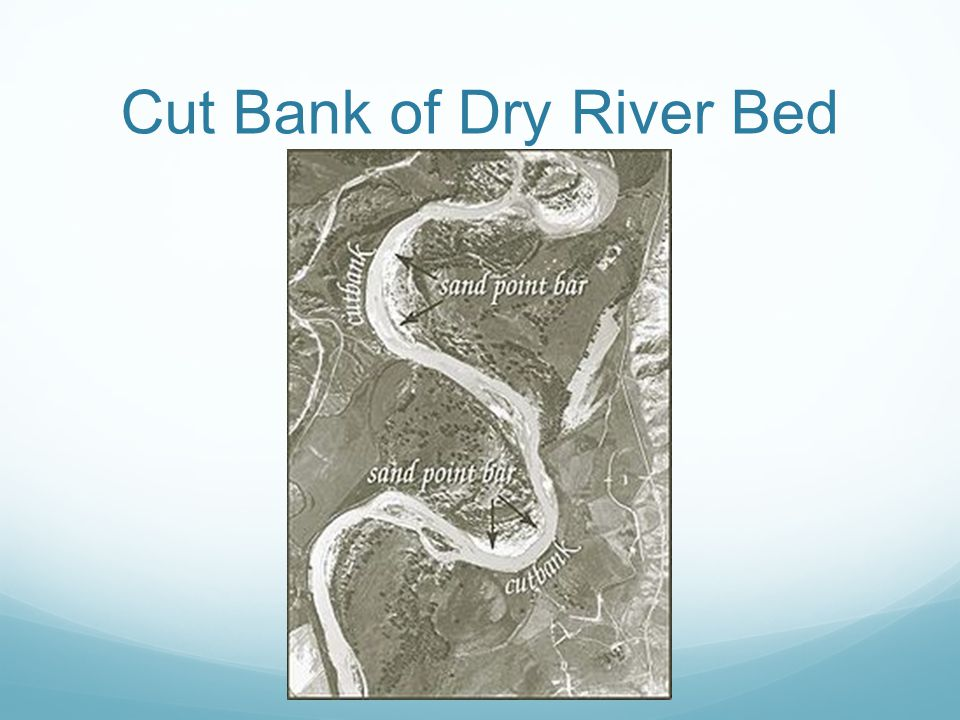 Cut Bank of Dry River Bed