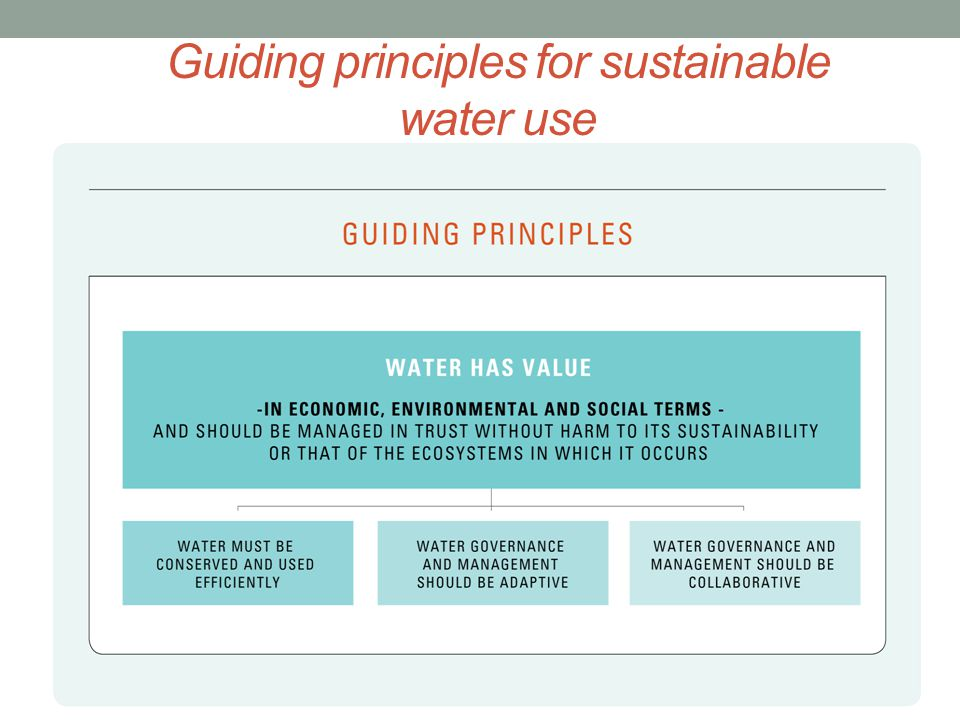 Guiding principles for sustainable water use