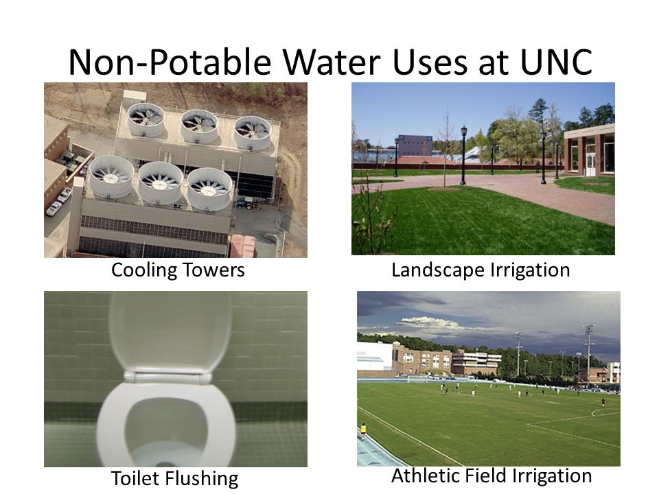 Non-Potable Water Uses at UNC Athletic Field Irrigation Toilet Flushing Landscape IrrigationCooling Towers