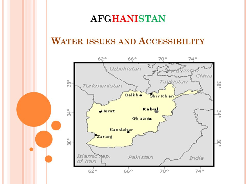 AFGHANISTAN W ATER ISSUES AND A CCESSIBILITY