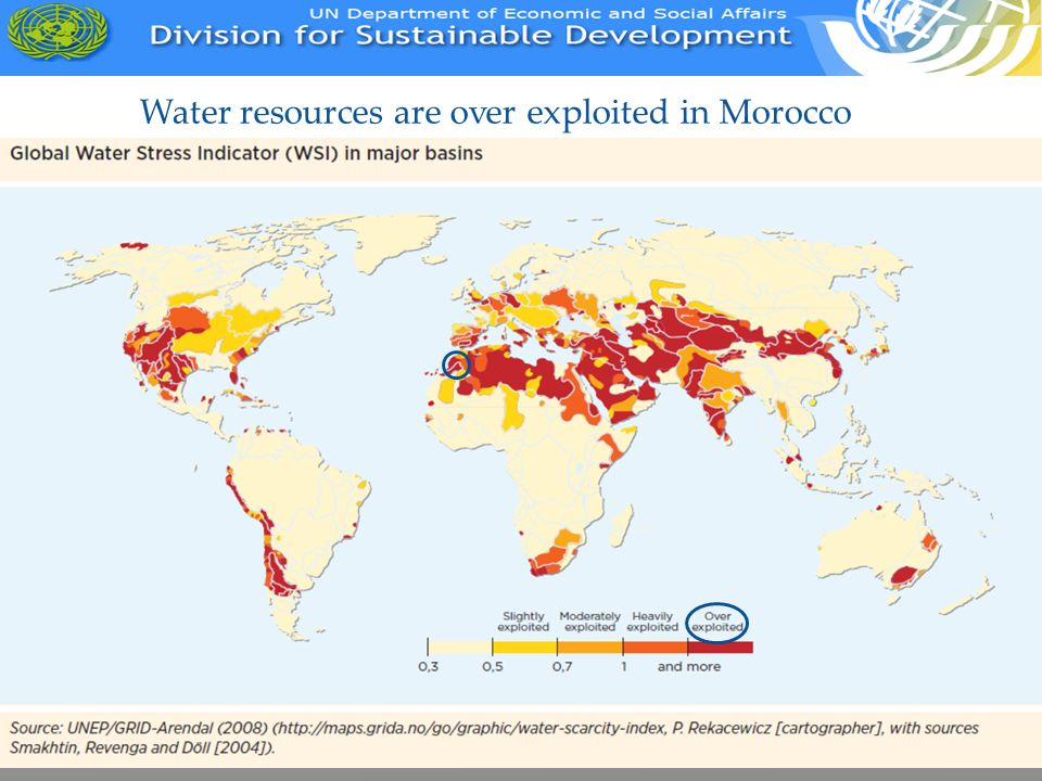 Water resources are over exploited in Morocco