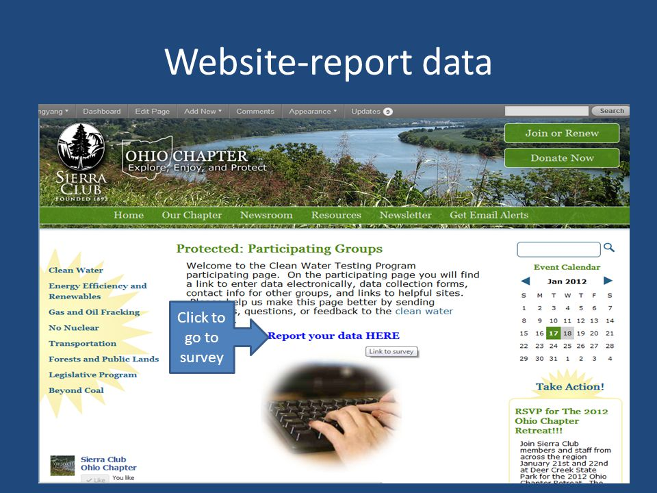 Website-report data Click to go to survey