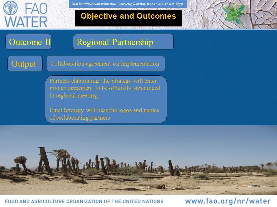 Near East Water Scarcity Initiative - Launching Workshop, June 2-4 20013.