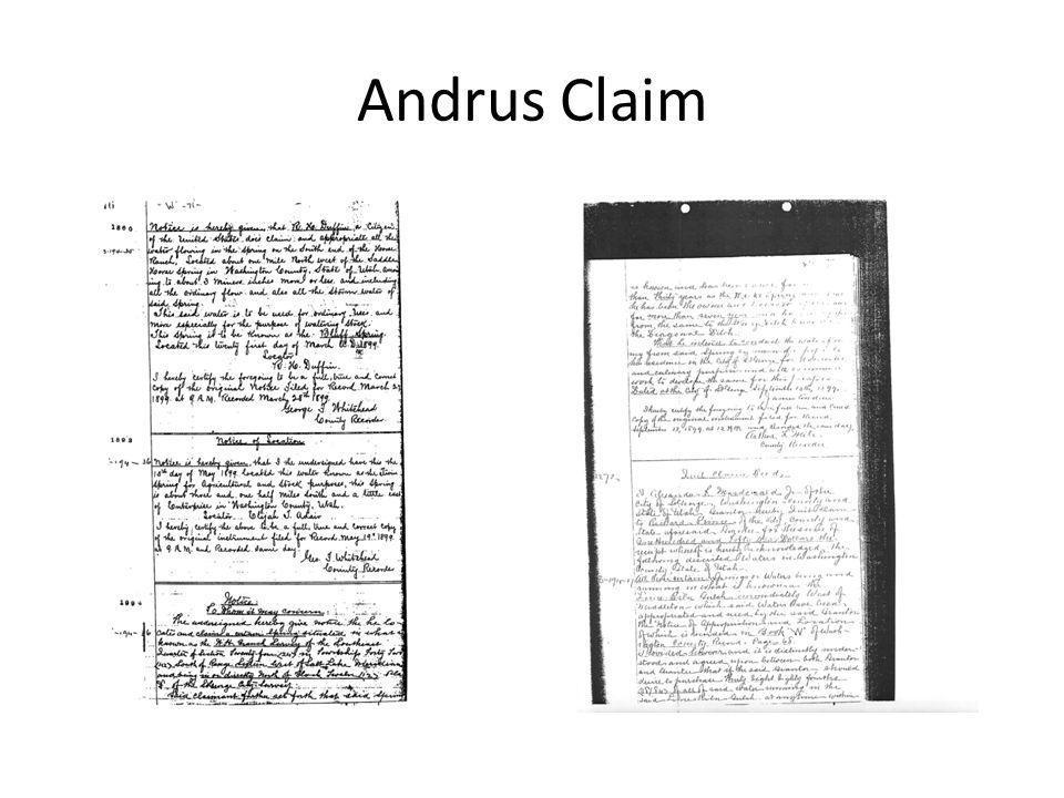 Andrus Claim
