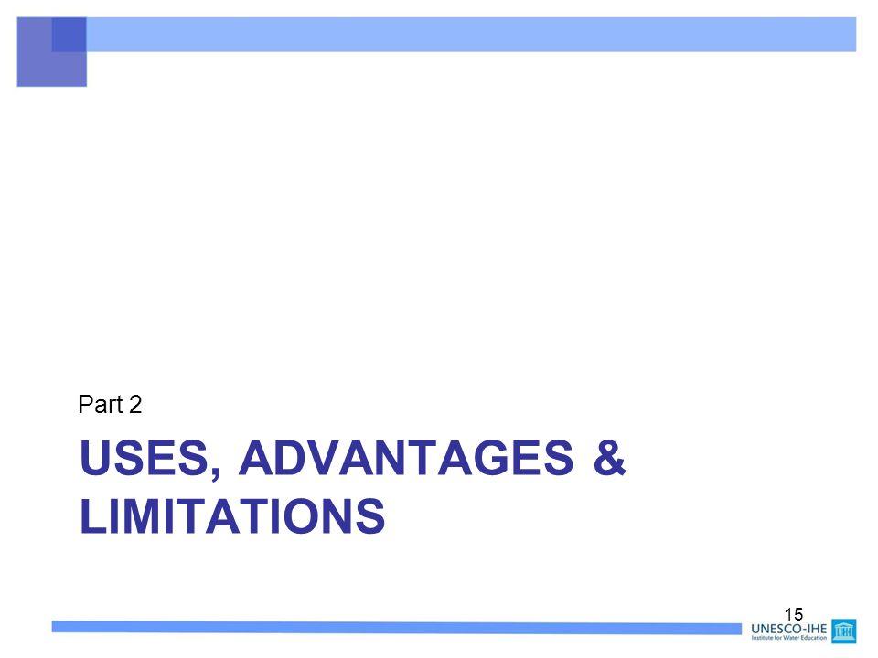 USES, ADVANTAGES & LIMITATIONS Part 2 15