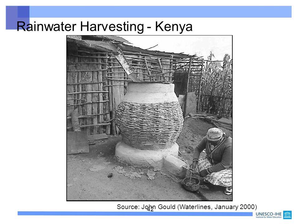 42 Rainwater Harvesting - Kenya Source: John Gould (Waterlines, January 2000)