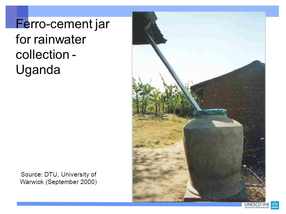 43 Ferro-cement jar for rainwater collection - Uganda Source: DTU, University of Warwick (September 2000)