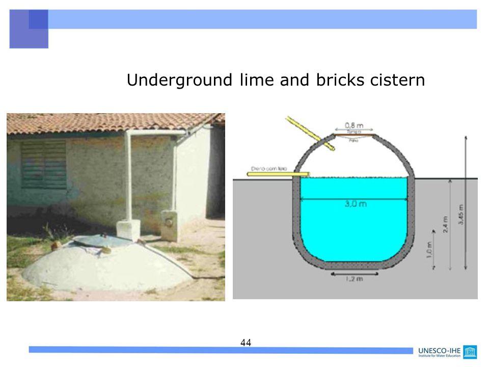 44 Underground lime and bricks cistern
