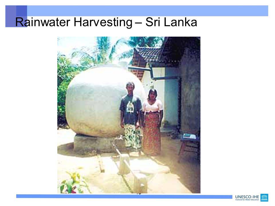 45 Rainwater Harvesting – Sri Lanka
