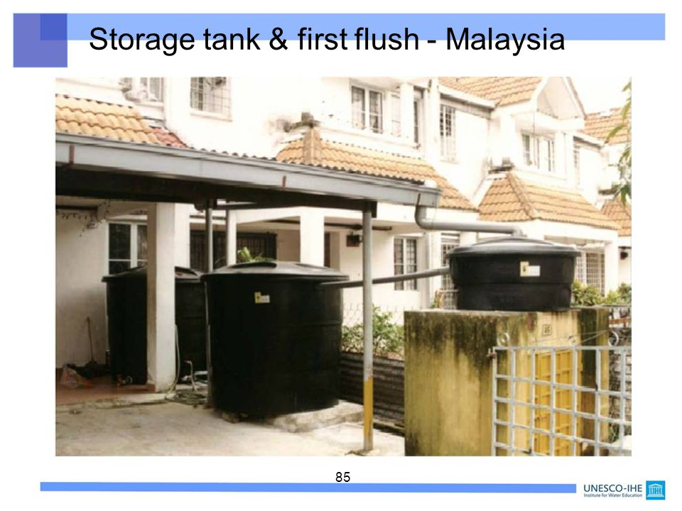 85 Storage tank & first flush - Malaysia