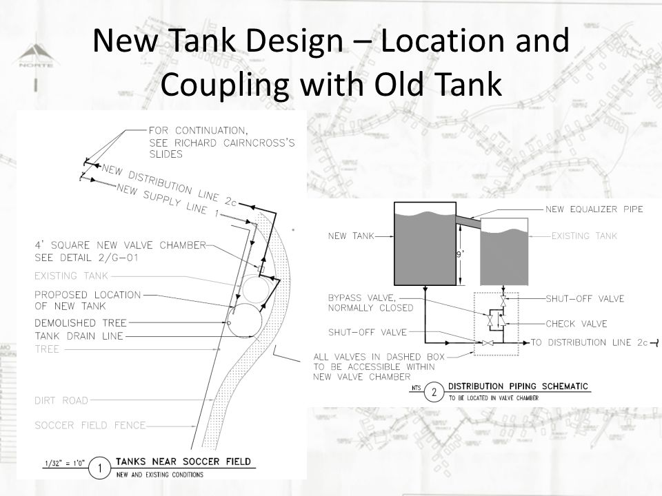New Tank Design – Location and Coupling with Old Tank
