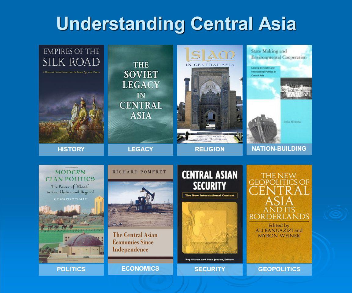 Understanding Central Asia HISTORYLEGACYRELIGION POLITICSSECURITYGEOPOLITICS ECONOMICS NATION-BUILDING