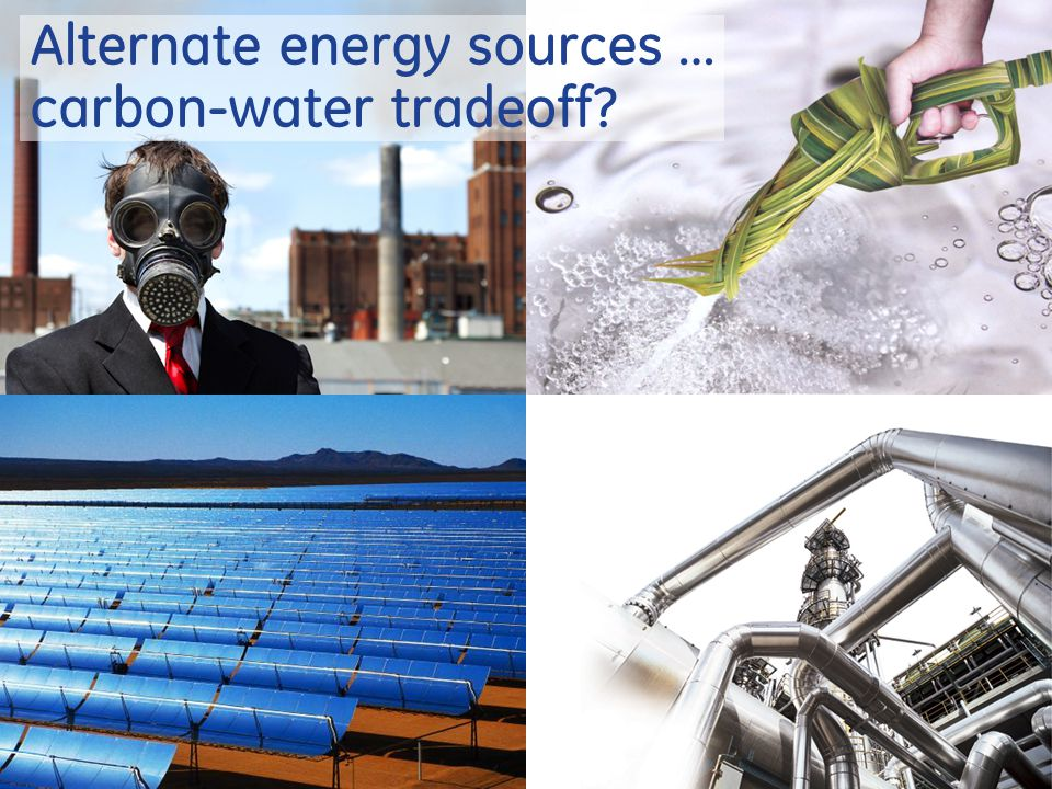 12 Alternate energy sources … carbon-water tradeoff
