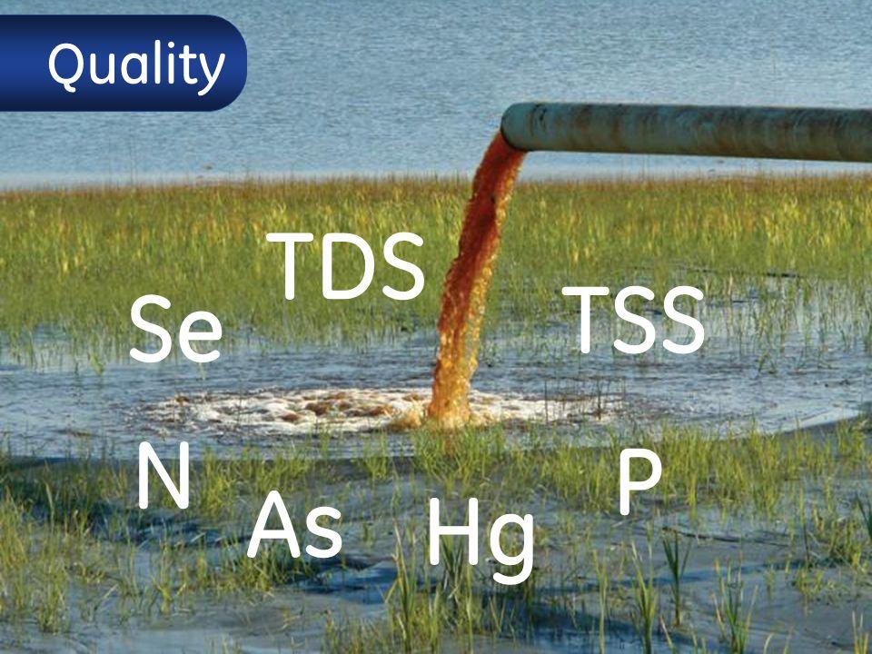 9 Quality TDS TSS Hg Se As P N