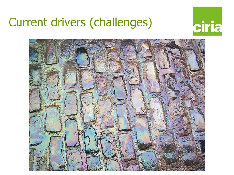www.ciria.org/suds Current drivers (challenges)