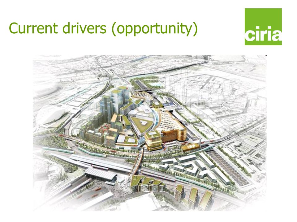 www.ciria.org/suds Current drivers (opportunity)