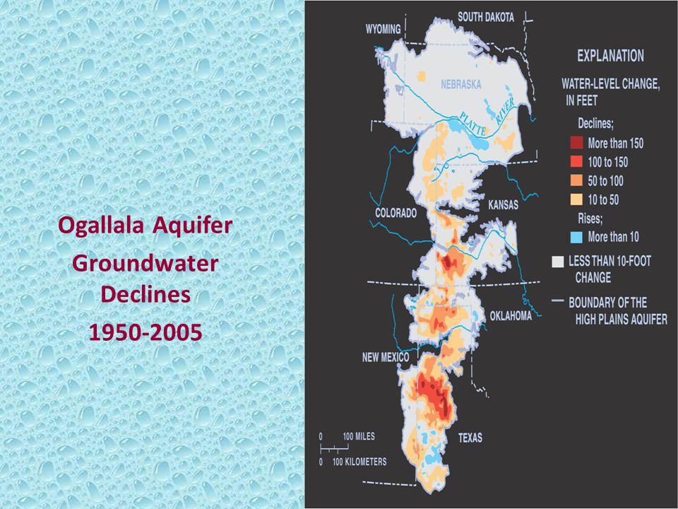 Ogallala Aquifer Groundwater Declines 1950-2005