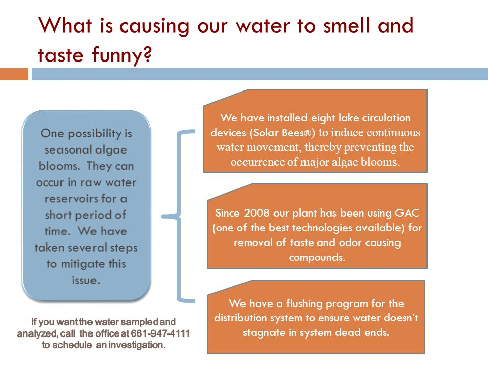 Why do we smell chlorine in the water and what can we do about it.