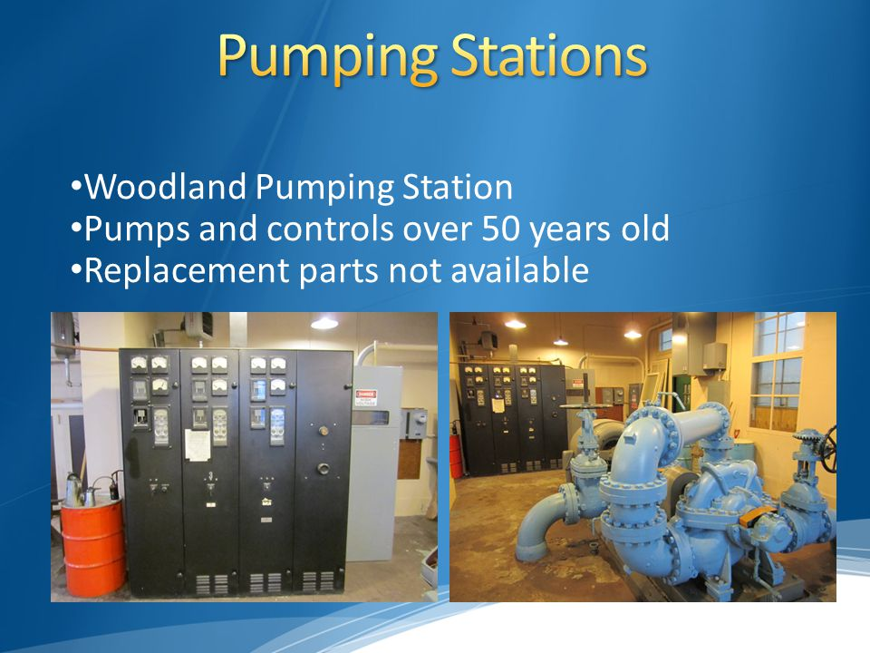 Pumps and controls over 50 years old Replacement parts not available