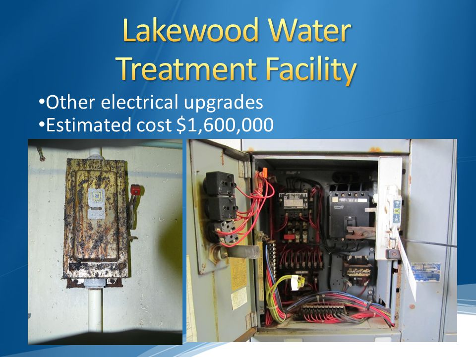 Other electrical upgrades Estimated cost $1,600,000