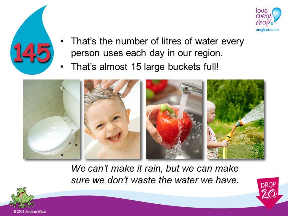Anglian Water is saving water © 2012 Anglian Water