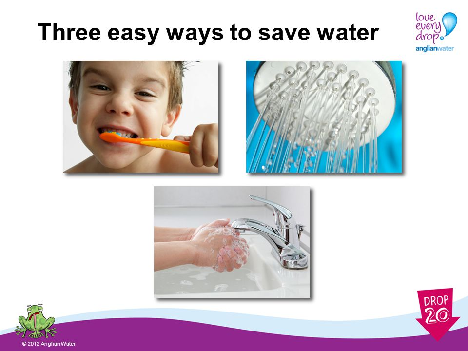 What other ways can you think of to save water.