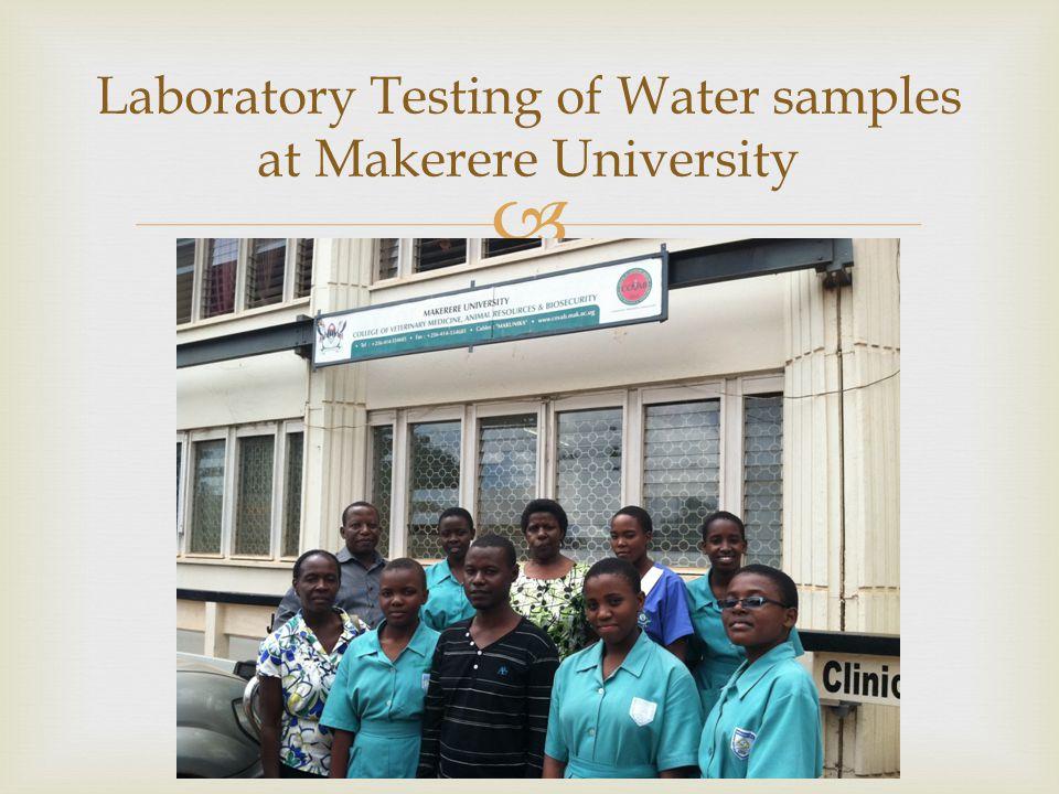 Laboratory Testing of Water samples at Makerere University