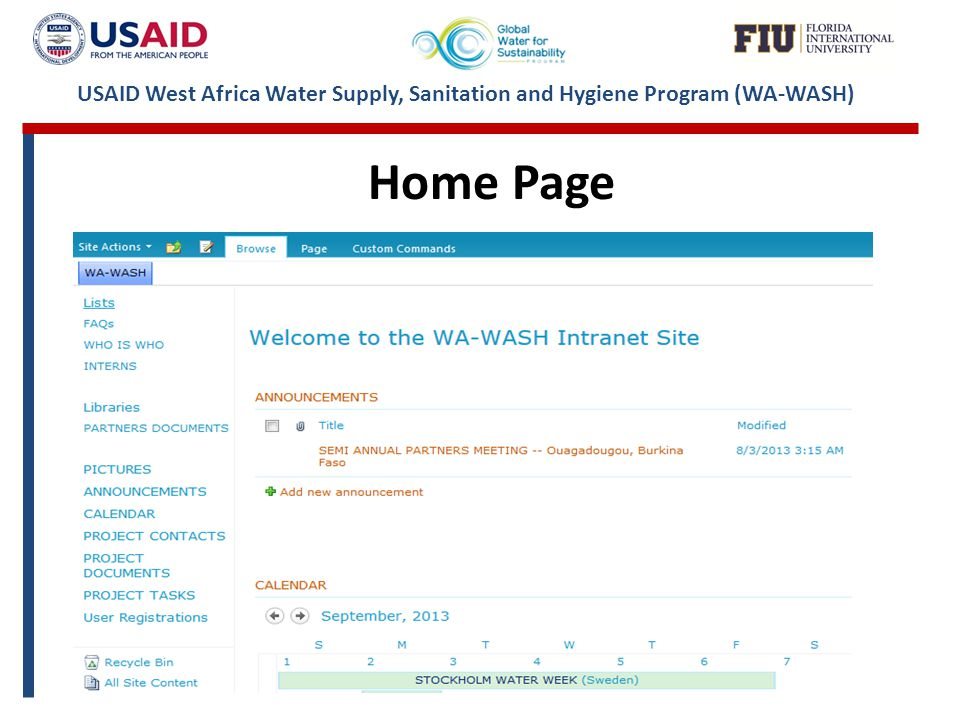 USAID West Africa Water Supply, Sanitation and Hygiene Program (WA-WASH) Home Page