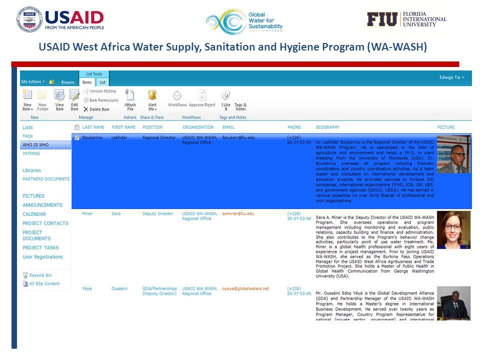 USAID West Africa Water Supply, Sanitation and Hygiene Program (WA-WASH)