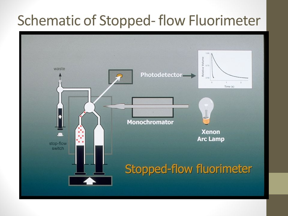 Schematic of Stopped- flow Fluorimeter