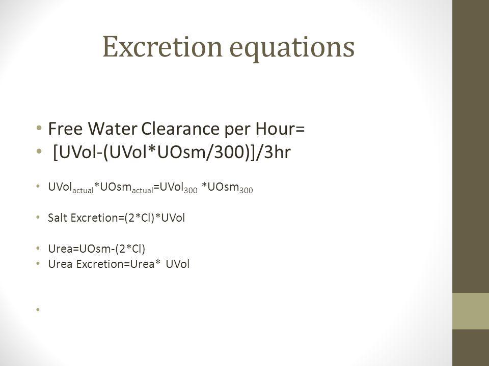 Free water excretion