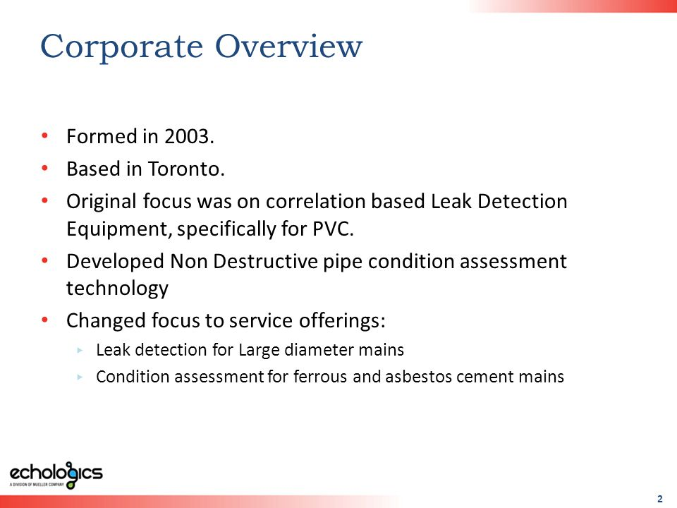 2 Corporate Overview Formed in 2003. Based in Toronto.
