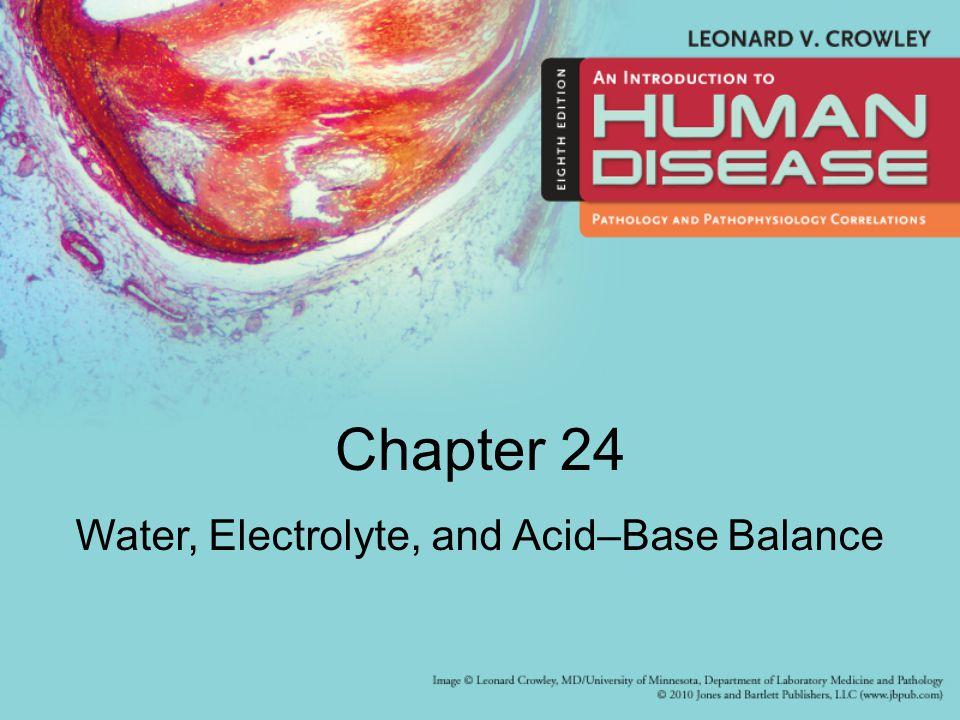 Chapter 24 Water, Electrolyte, and Acid–Base Balance