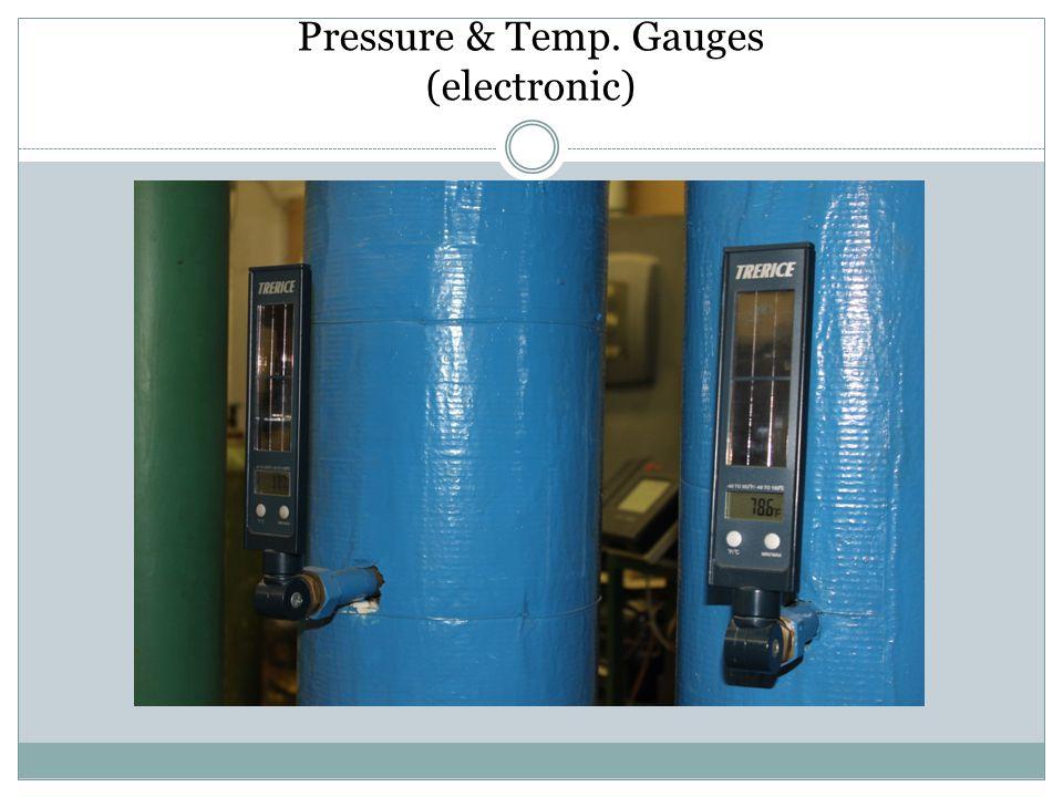 Pressure & Temp. Gauges (electronic)