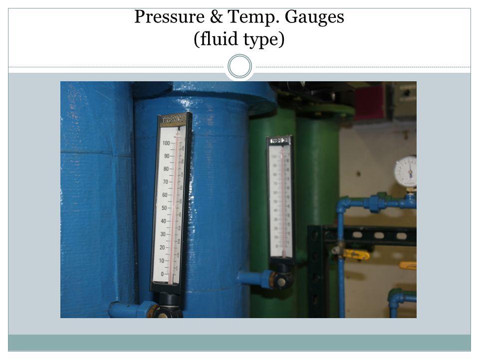 Pressure & Temp. Gauges (fluid type)