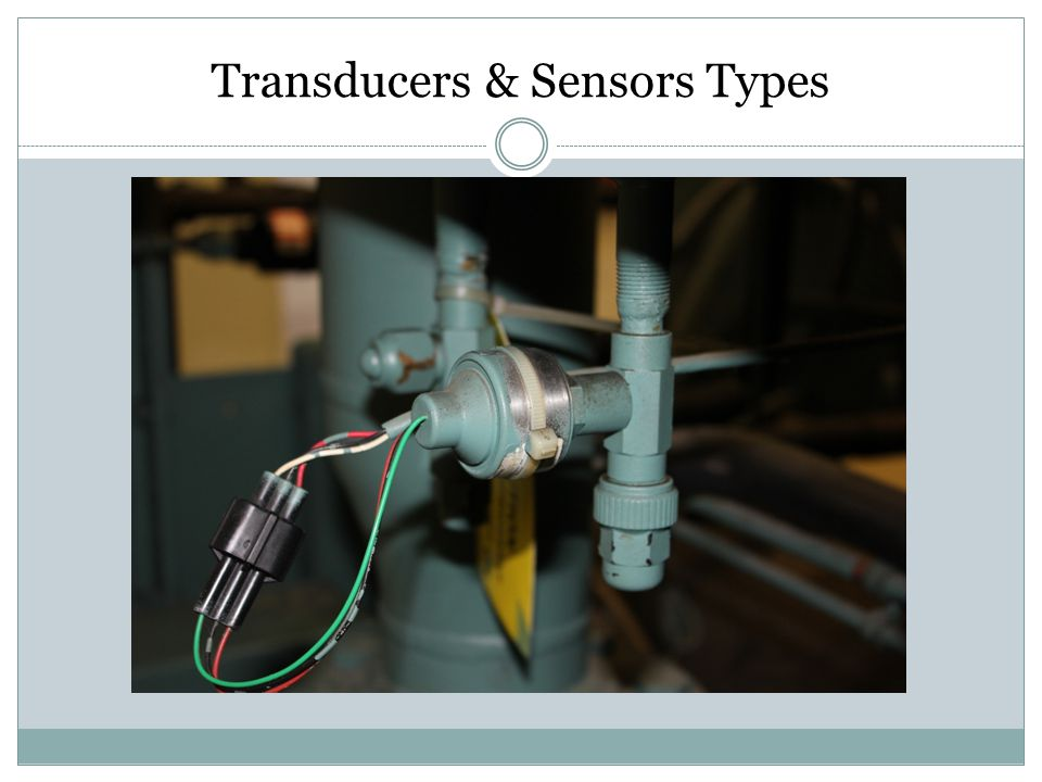 Transducers & Sensors Types