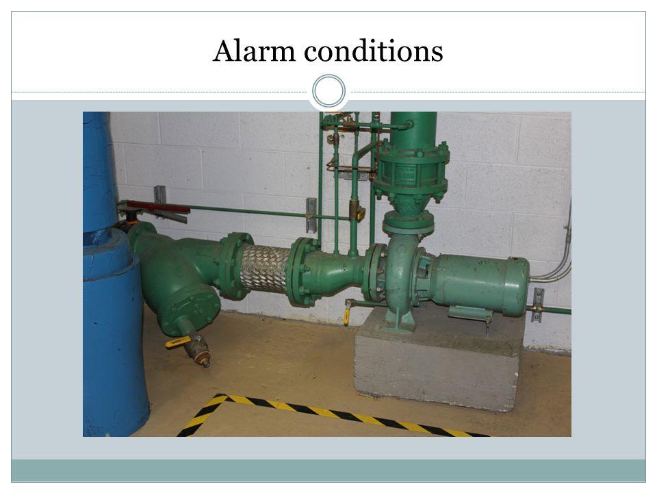 Alarm conditions