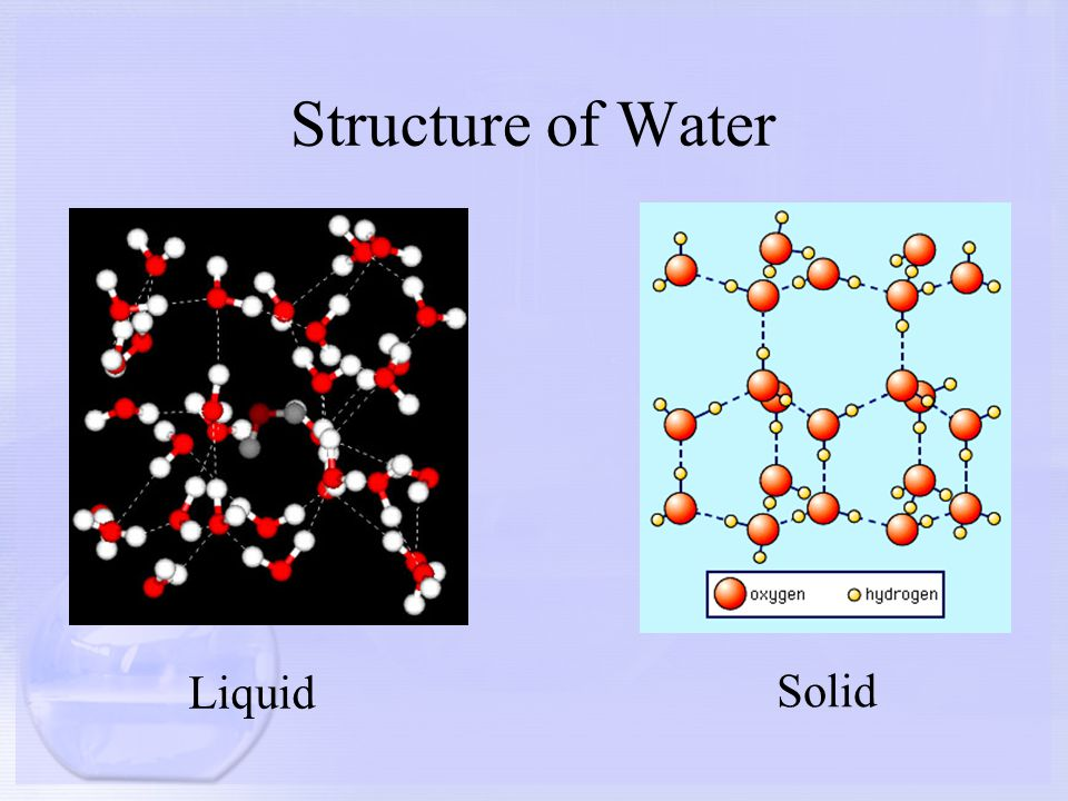 Structure of Water Liquid Solid