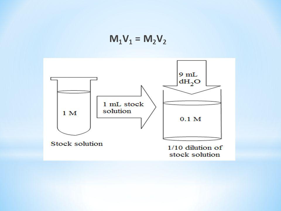 M 1 V 1 = M 2 V 2