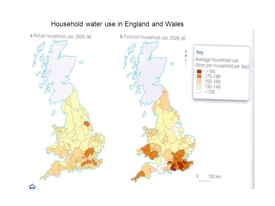 Household water use in England and Wales
