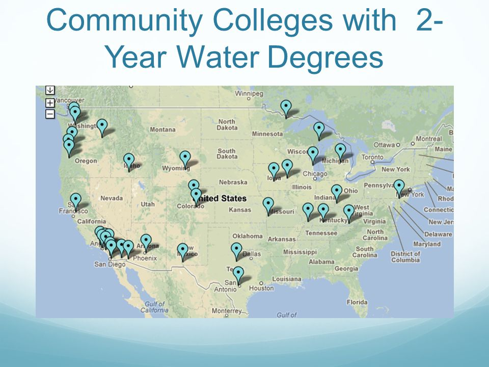 Community Colleges with 2- Year Water Degrees