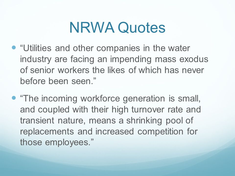 AWWA State of the Water Industry Report, 2012