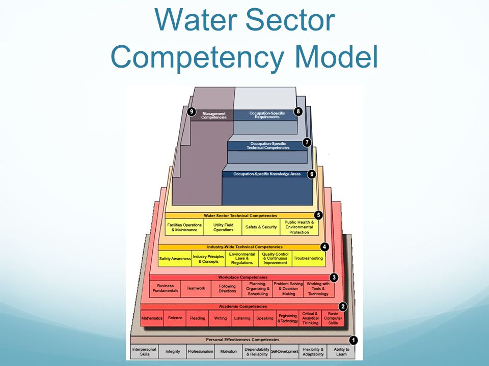 Water Sector Competency Model