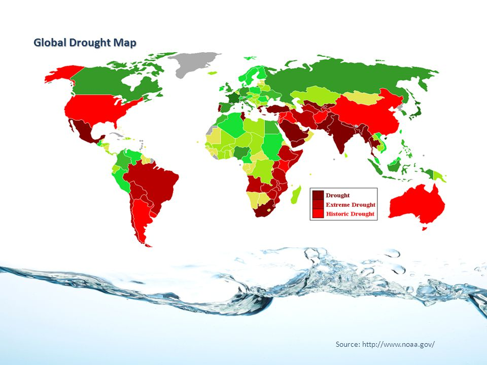 Global Drought Map Source: http://www.noaa.gov/