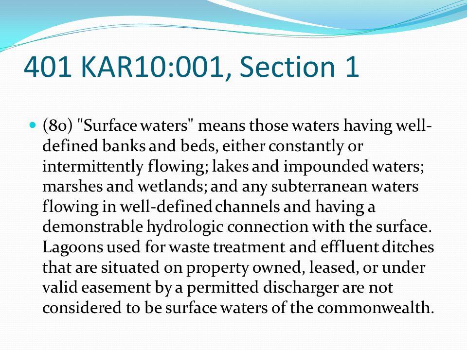 401 KAR10:001, Section 1 (80)