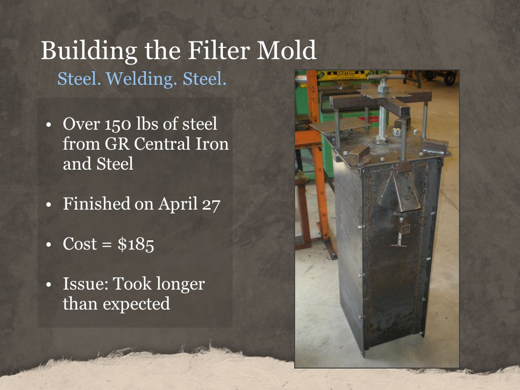 Building the Filter Mold Steel.Welding. Steel.