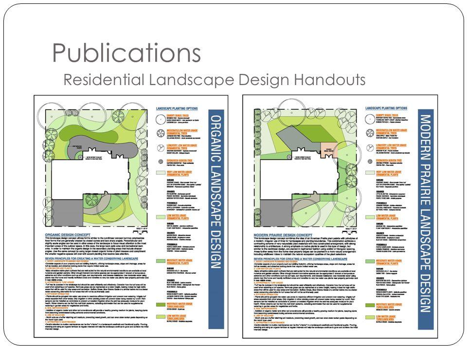 Residential Landscape Design Handouts